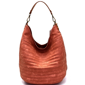 CJF023 Embossed Two-Tone Hobo Blush