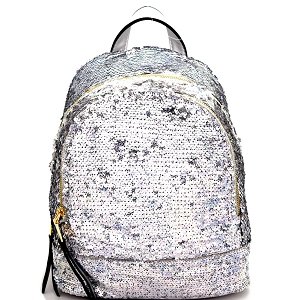 LY093 Sequin Embellished Fashion Backpack Hologram