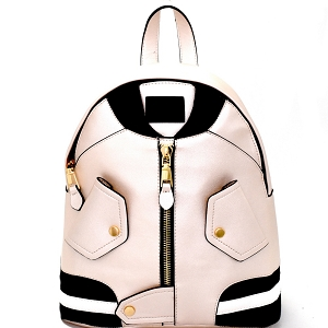 LY100 Unique Bomber Jacket Theme Novelty Fashion Backpack Pearl
