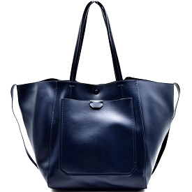 TWD0001 Twenty Nine Oversized Side String Light-weight Tote Navy-Blue