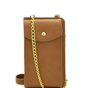 00271 Versatile Wallet Compartment Cellphone Holder Cross Body Taupe