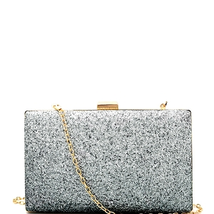 PL0012 Ombre Glittery Hard Frame Clutch Green