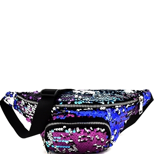 PL0303 Sequin Embellished Fashion Fanny Pack Multi