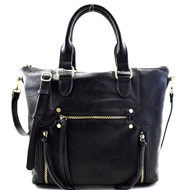 BGA3503 Antik Kraft Multi Pocket Casual Tote Black