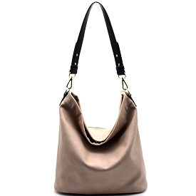 BGA866 Antik Kraft Two-Tone Single Strap Hobo Gray