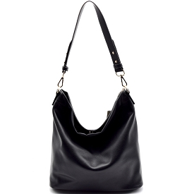 BGA866 Antik Kraft Two-Tone Single Strap Hobo Black