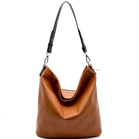 BGA866 Antik Kraft Two-Tone Single Strap Hobo Tan
