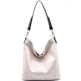 BGA866 Antik Kraft Two-Tone Single Strap Hobo Bone