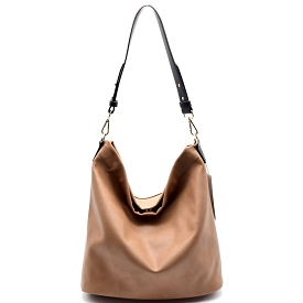 BGA866 Antik Kraft Two-Tone Single Strap Hobo Taupe