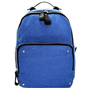 BGS47749 Multi Pocket Denim Fashion Backpack Dark-Blue