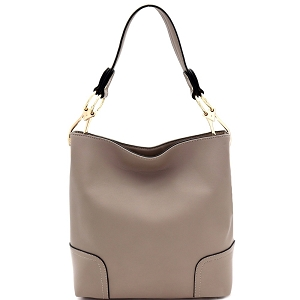 BW1348B Large Side Ring Snap Hook Classic Hobo Taupe