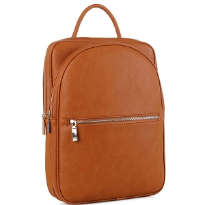 ES3360 Multi-Compartment Unisex Fashion Laptop Backpack Light-Brown