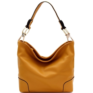 SS3754 Large Side Ring Snap Hook Classic Hobo Mustard