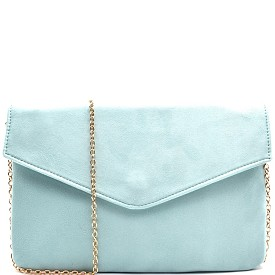 PPC5069 Felt-Suede Envelope Clutch Mint