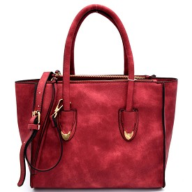 F0139 Multi Compartment Wing Satchel Red