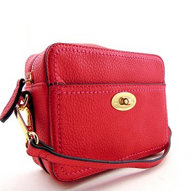 62251 Turn-lock Accent Boxy Cross Body Coral