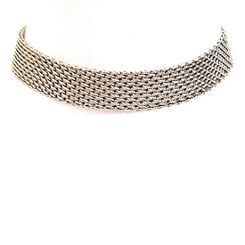 AMN3056 Simple Daily Chain Choker Necklace Antique-Silver