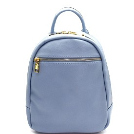 87280 Zipper Pocket Accent Medium Fashion Backpack Blue
