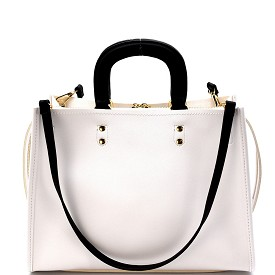 LY080 Classy 2 Way 3 Compartment Satchel White